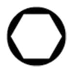 Punta destornillador Hexagonal