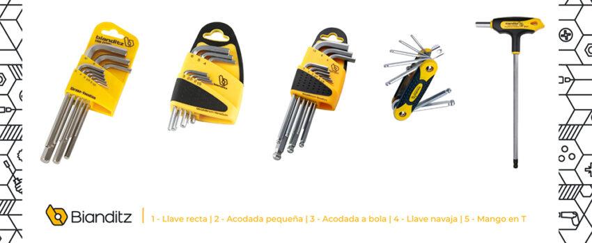 Tipos de llaves allen
